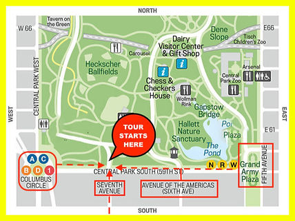 central park carriage ride map