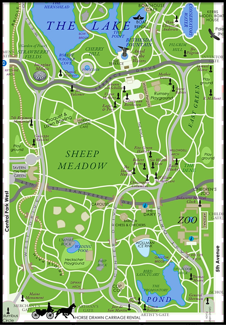 NYC Horse Carriage Rides | Central Park | New York City, NY | Tours | Central Park Map | Directions | Pick up
