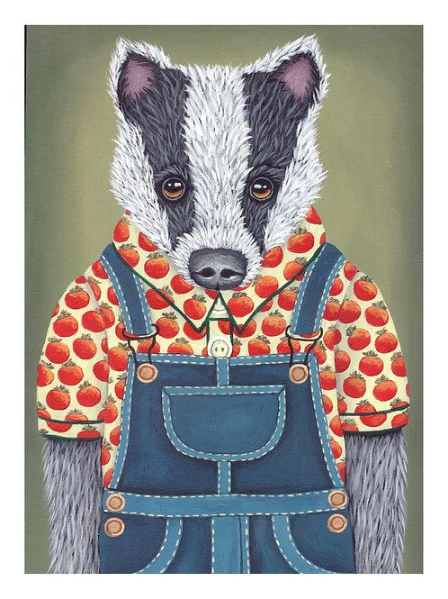 "ART PRINT-""Roscoe's Tomato Shirt and Overalls"""