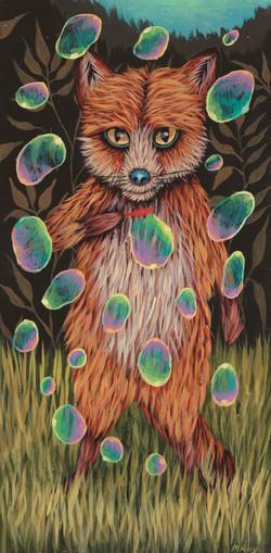 Foxy Found Bubbles