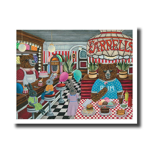 "ART PRINT-""Ricky Goes To Farrell's"""