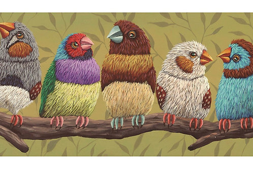 "ART PRINT-""Finch Frenzy"""