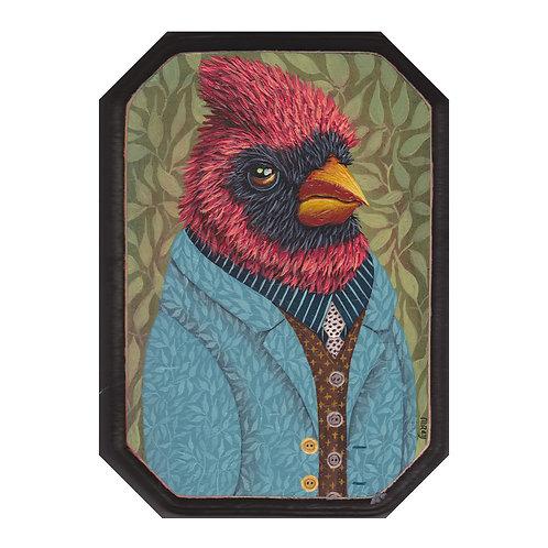 "ORIGINAL-""Garden Portraits- Cardinal #2"""