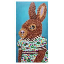 bunny portrait vegetable