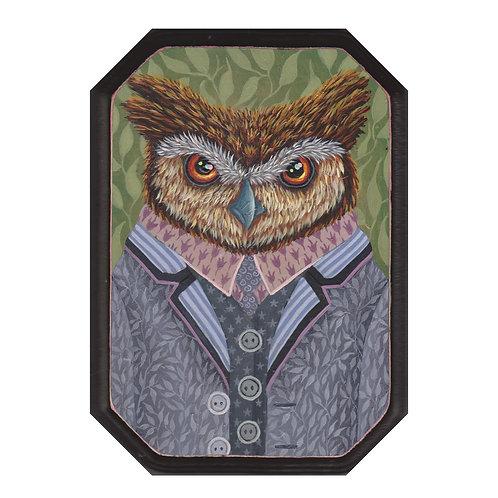 "ORIGINAL-""Garden Portraits- Great Horned Owl"""""