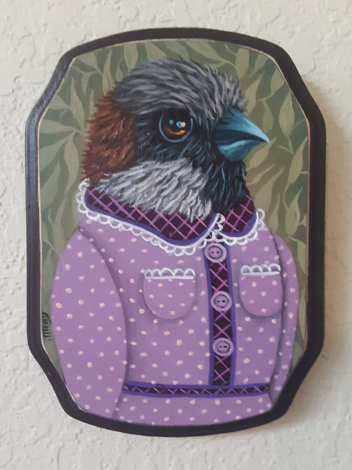 "ORIGINAL-""Garden Portraits-Sparrow #2 (female)"""