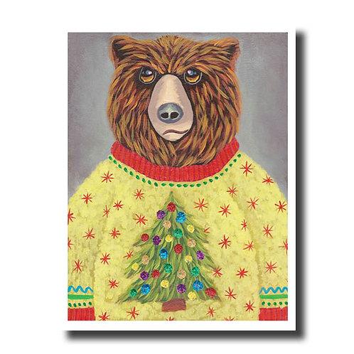 NOTECARD (Individual) Christmas Tree Sweater