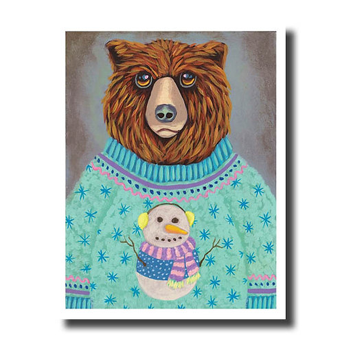 NOTECARD (Individual) Snowman Sweater
