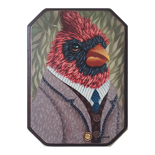"ORIGINAL-""Garden Portraits- Cardinal #6"""