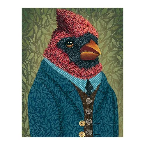 """ORIGINAL-""""Garden Portraits-Cardinal No.3"""""""