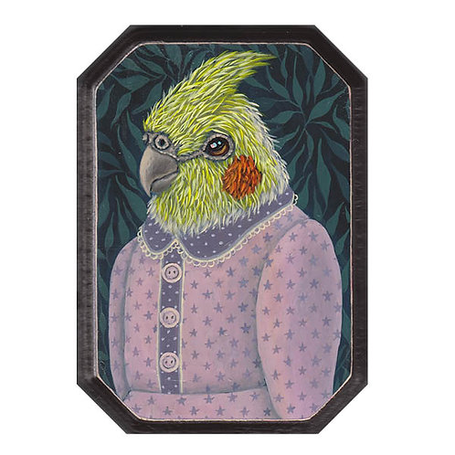 "ORIGINAL-""Garden Portraits- Cockatiel #2 (female)"""