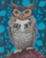 Marisa Ray Great Horned Owl bird paintin