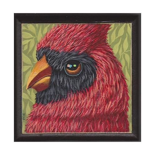 """ORIGINAL-""""Cardinal Face #4"""""""
