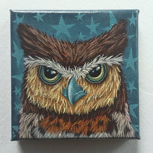 """ORIGINAL-""""Owl Face 1"""""""