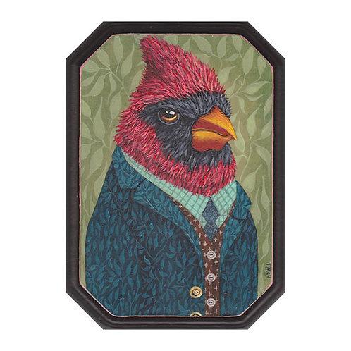 "ORIGINAL-""Garden Portraits- Cardinal"""