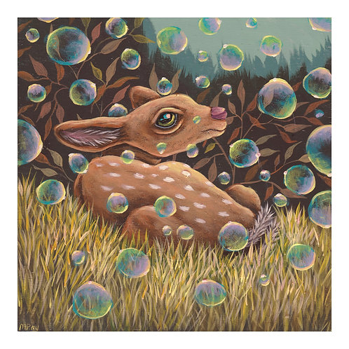 "ART PRINT-""It's Raining Bubbles!"""