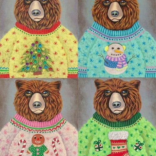 """Ricky The Bear"" Christmas Cards"