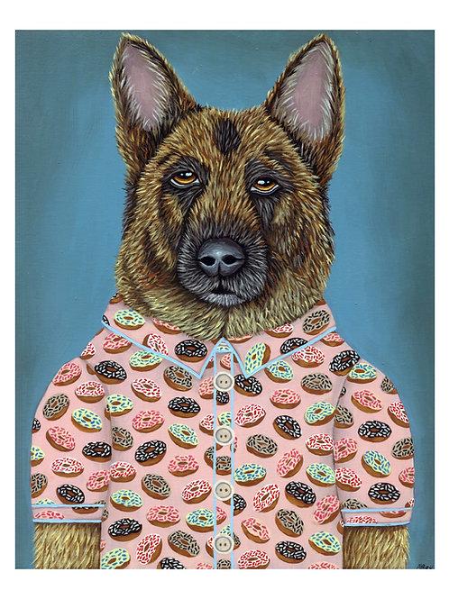 "ART PRINT-""Sarge's Donut Shirt"""