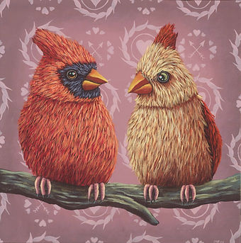 Marisa Ray Red cardinal couple romantic