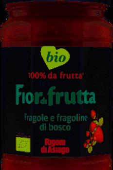 Rigoni Bio strawberries and wild strawberries jam