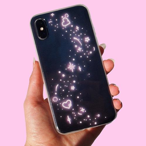 'Glitter' insert + clear case