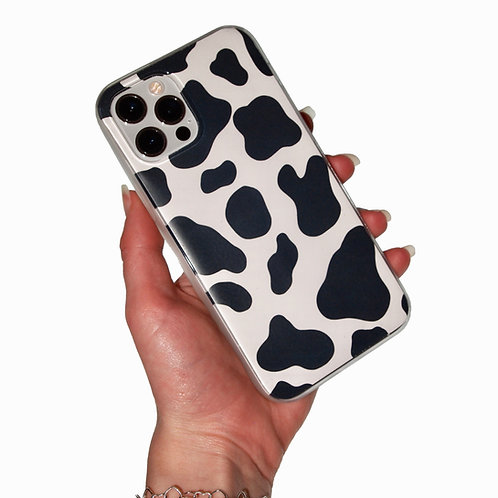 'Cow Print' insert + clear case