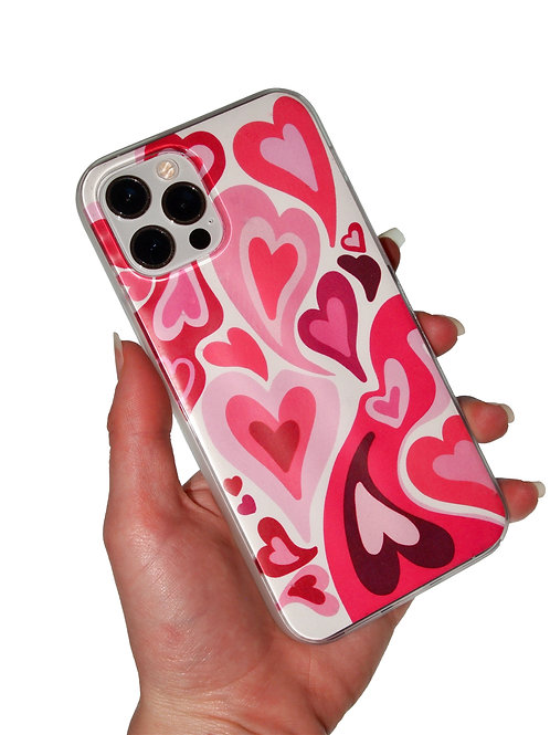 'Valentines' insert + clear case