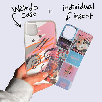 Cheek Case with extra insert