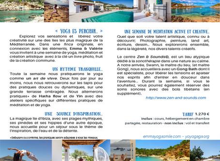 Semaine de yoga/créa à Ibiza