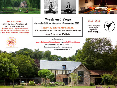 Week end yoga en Normandie 10/12 novembre 2017