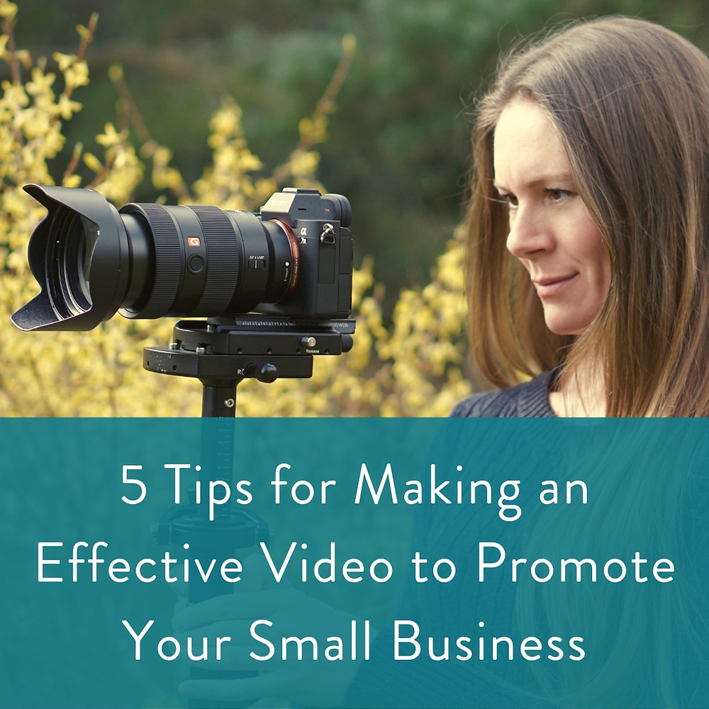 Women filming a promotional video for small business