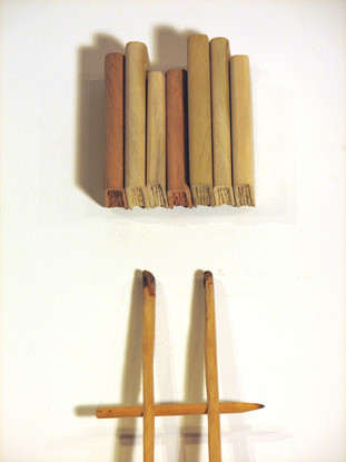 pencil ladder and books (detail)