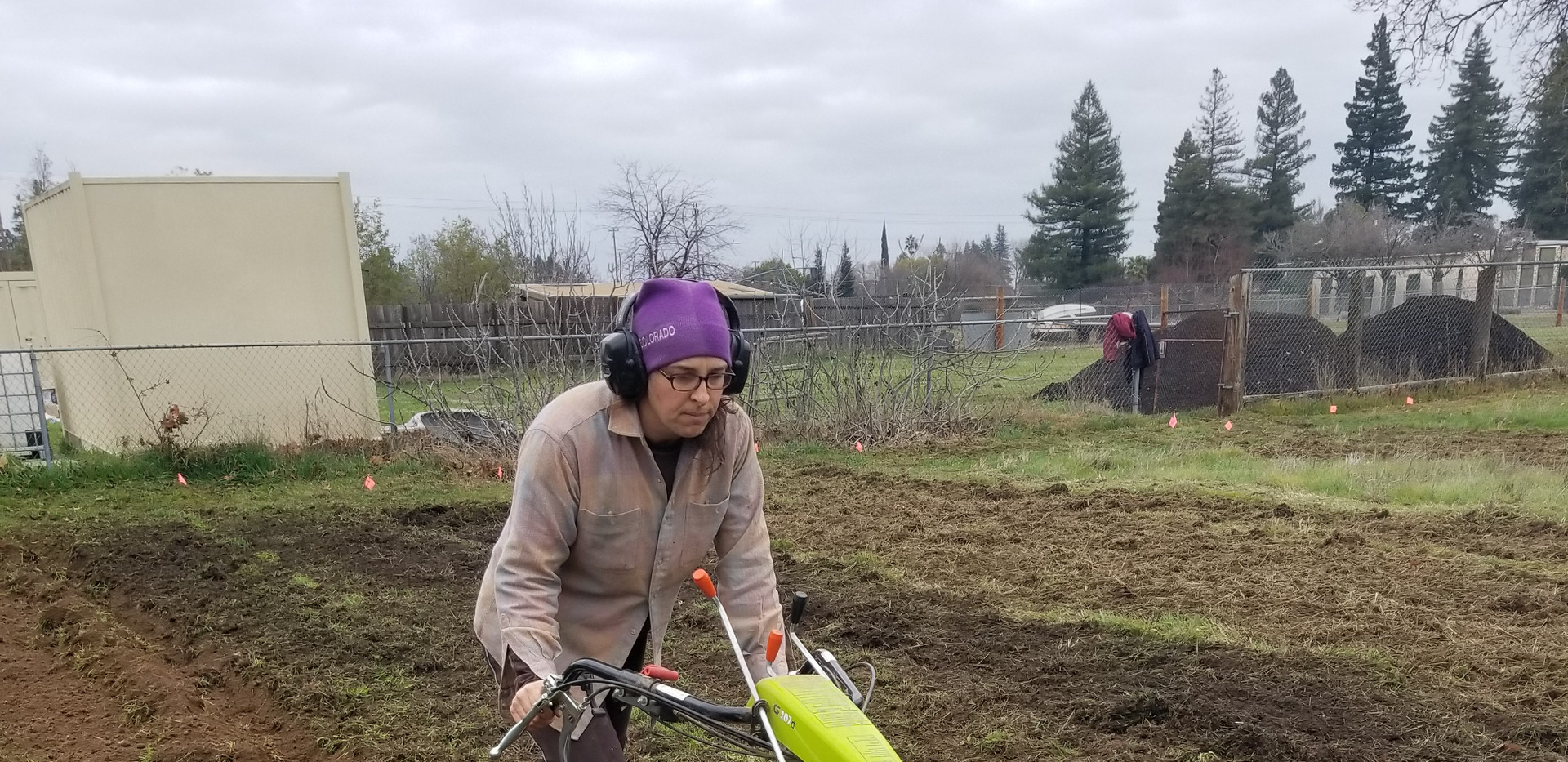 Sarah plowing pathways