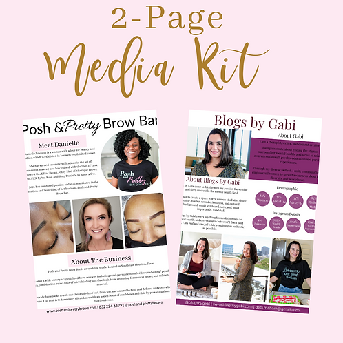 Two Page Media Kit
