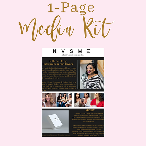 One Page Media Kit