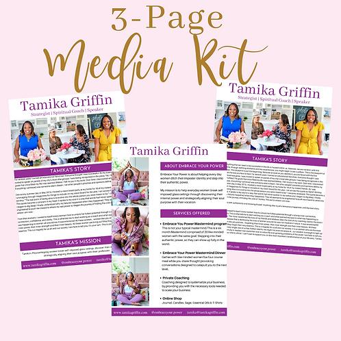 Three Page Media Kit