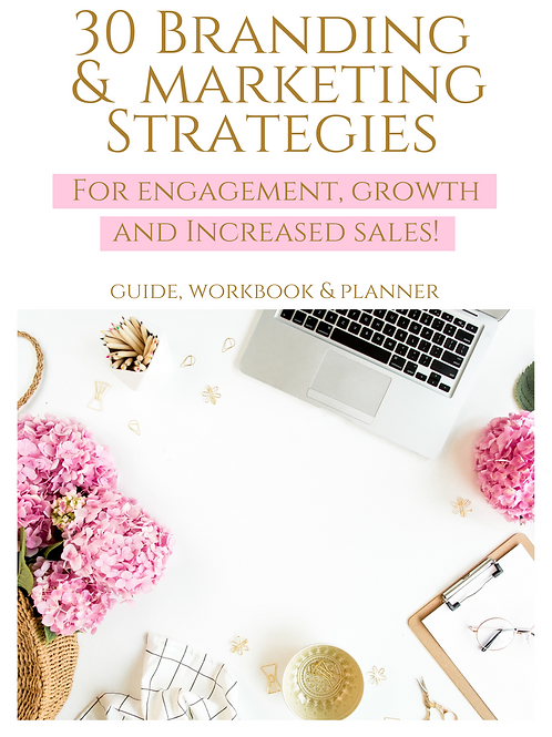 30 Branding, Marketing& Content Strategies Growth and Increased Sales!