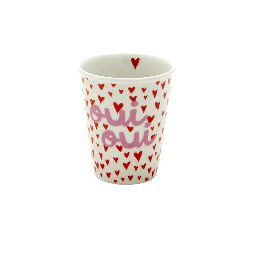 Tasse en porcelaine - Cœurs