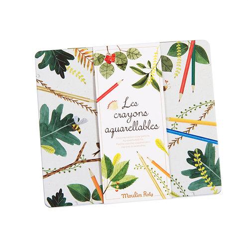 Boîte de 24 crayons aquarelles - Le Jardin du Moulin