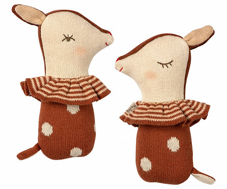 Hochet en tricot - Bambi