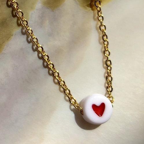 Collier perle Cœur