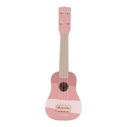 Guitare rose en bois