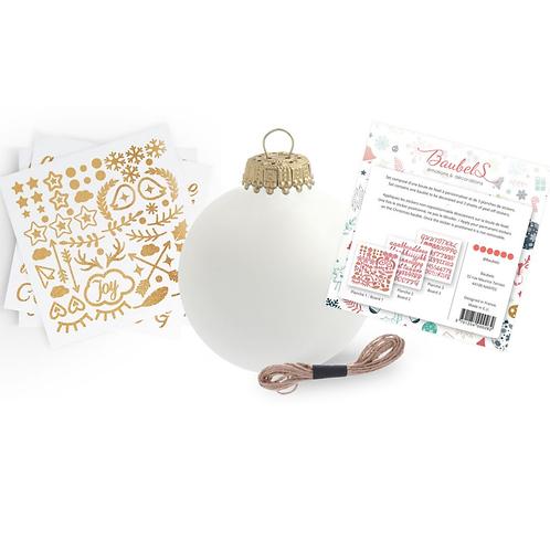 Boule de Noël - Kit DIY Stickers