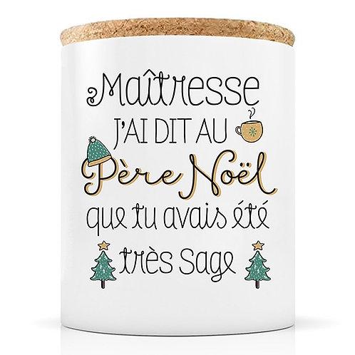 Bougie - Noël Maîtresse