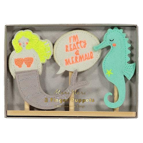 Marionnettes à doigts Sirène