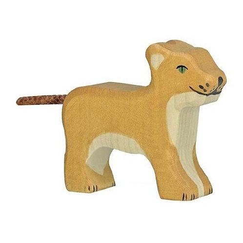 Figurine en bois - Lionceau