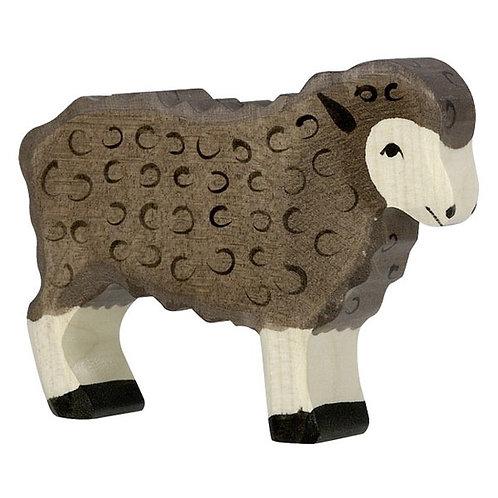 Figurine en bois - Mouton noir