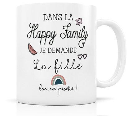 Mug Happy Family - La Fille