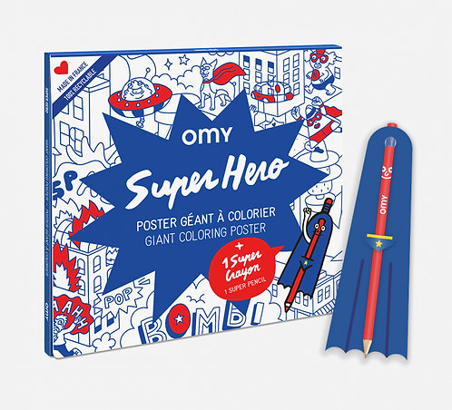Poster à colorier - Super Héro