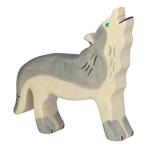 Figurine en bois - Loup